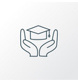 learning support icon line symbol premium quality vector image
