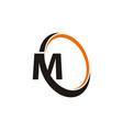 letter m synergy vector image vector image