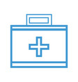 line suitcase with medical first aid kit vector image vector image