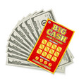 lottery cash win vector image