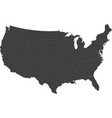 map of the united states of america vector image vector image