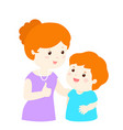 mother admire son character cartoon xa vector image vector image