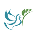 pigeon peace isolated symbol vector image