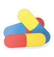 pill and dragee concept icon and label health vector image vector image