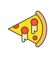 pizza food and gastronomy set filled outline icon vector image vector image