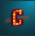 retro style letter c vector image vector image