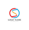 s logo line template font vector image vector image