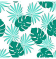 seamless palm leaves pattern vector image vector image