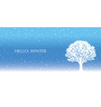seamless winter background with a tree vector image vector image