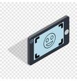 selfie isometric icon vector image vector image