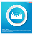 send mail icon abstract blue web sticker button vector image vector image