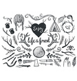 set design elements and clip art themed around vector image
