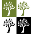 set of apple trees vector image