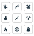 Set of simple police icons