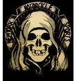 skull t shirt graphic design vector image vector image
