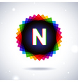 Spectrum logo icon Letter N vector image