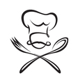 spoon fork and chef vector image vector image
