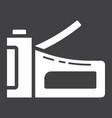 staple gun glyph icon build and repair stapler vector image vector image