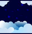 stars and night paper art childrens background vector image vector image