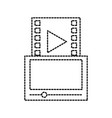 tablet movie player dgital technology online vector image