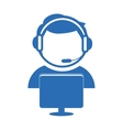technical support assistant icon vector image vector image