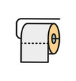 toilet roll flat color line icon vector image vector image