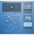 UI transparency flat design of web elements vector image