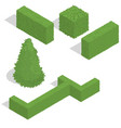 various bushes isometric set vector image vector image