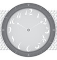 Watch gray background vector image vector image
