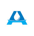 water drop letter a initial logo template vector image vector image