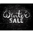 winter sale text lettering seasonal shopping vector image