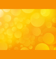 yellow orange background with bokeh vector image