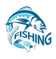 fish and baubles symbol vector image