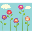Bright Flower Cllection vector image