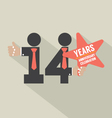 14th Years Anniversary Typography Design vector image vector image