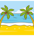 beach palms vacations image vector image
