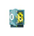 bitcoin safe vector image vector image