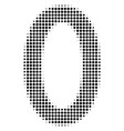 black dotted zero digit icon vector image vector image