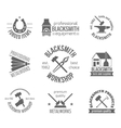 Blacksmith Label Set vector image vector image