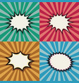 blank pop art speech bubbles and burst shapes on vector image