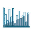 blue shading silhouette of statistical graphs bars vector image vector image
