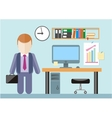 Businessman standing in office vector image vector image