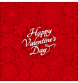 Card design for Valentines day vector image vector image