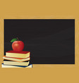 chalkboard with frame and apple vector image vector image