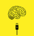 charge your brain background vector image vector image