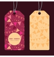 christmas decorations flags vertical round frame vector image vector image