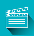 clapperboard cinema isolated icon vector image vector image