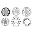 clock face blank set isolated on white background vector image