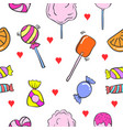 collection stock various candy doodles vector image vector image