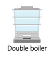 color of the double boiler vector image